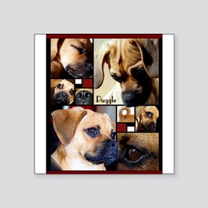 Puggle Parts Rectangle Sticker