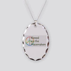 Blessed are the Peacemakers Necklace Oval Charm