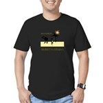Cycling Hazards - Bad GPS Men's Fitted T-Shirt (da