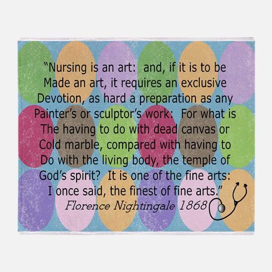 Florence Nightingale Quote Bag.PNG Throw Blanket