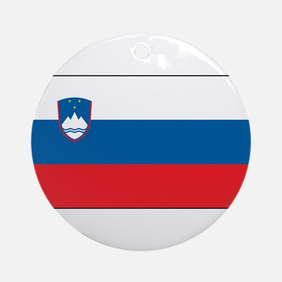 Slovenia - National Flag - Current Round Ornament