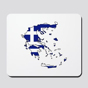Greek Flag Map Mousepad