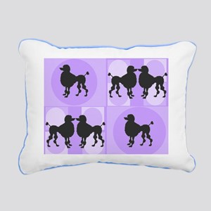 Retro poodle bag purple Rectangular Canvas Pil