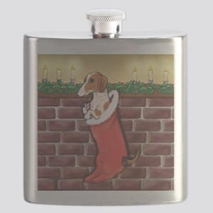Piebald Christmas Flask