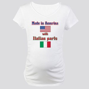 Italian American made(bwhite) Maternity T-Shir