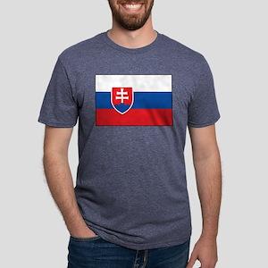 Slovakia - National Flag - Current Mens Tri-blend