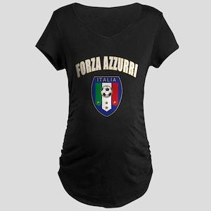 Italian forza azzurri Maternity Dark T-Shirt