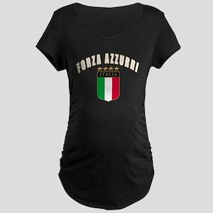 4-3-forza azzurri Maternity Dark T-Shirt