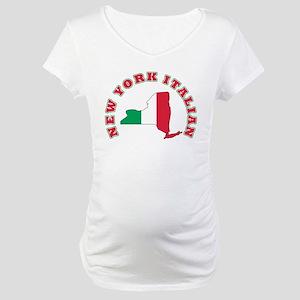 3-new york italian Maternity T-Shirt