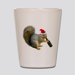 Santa Squirrel Beer Shot Glass