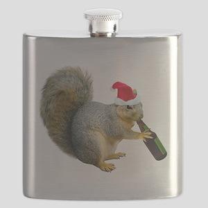 Santa Squirrel Beer Flask