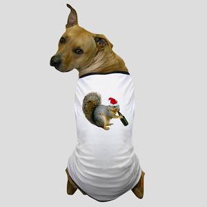 Santa Squirrel Beer Dog T-Shirt