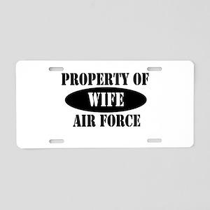 Property AF Wife Aluminum License Plate