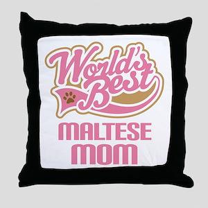 Maltese Mom Throw Pillow