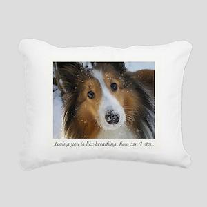 Loving You Rectangular Canvas Pillow