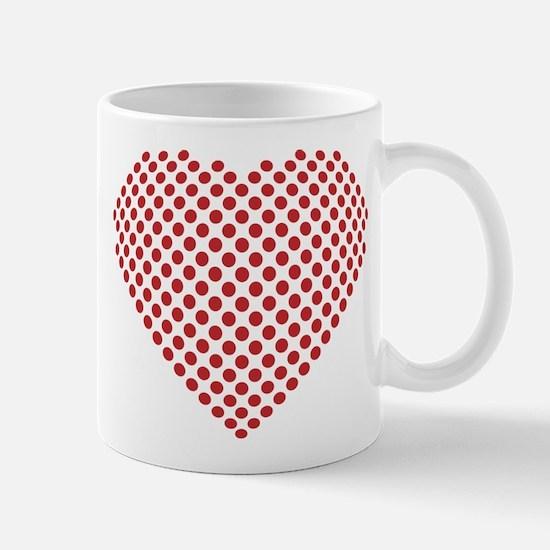 A heart made from golf ball divots Mug
