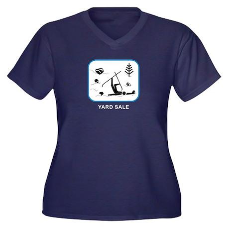 Yard Sale Women's Plus Size V-Neck Dark T-Shirt
