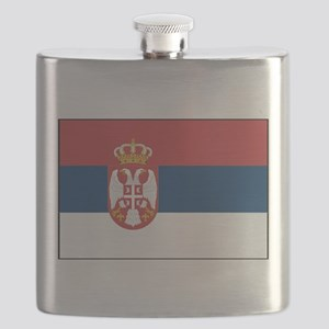 Serbia - National Flag - 2004-2010 Flask