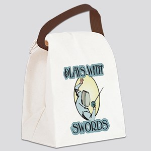 Plays with Swords Canvas Lunch Bag