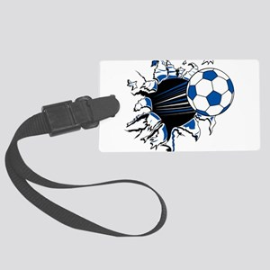 Soccer Ball Burst Large Luggage Tag