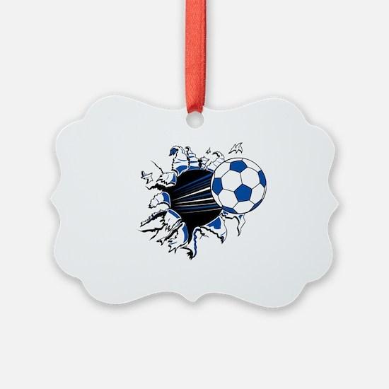 Soccer Ball Burst Picture Ornament