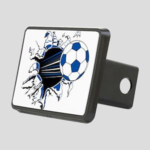 Soccer Ball Burst Rectangular Hitch Cover
