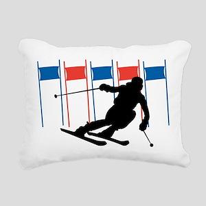 Ski Competition Rectangular Canvas Pillow