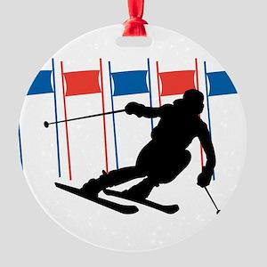 Ski Competition Round Ornament
