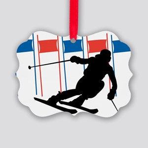 Ski Competition Picture Ornament