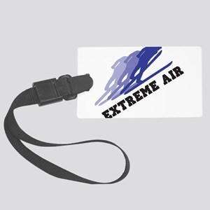 Extreme Air Skiing Large Luggage Tag
