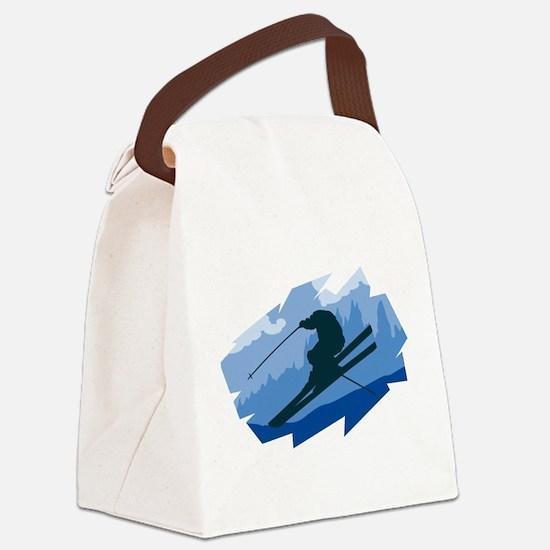 Ski Jumper Canvas Lunch Bag