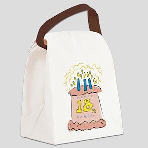 18th birthday cake Canvas Lunch Bag