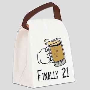 21 boy Canvas Lunch Bag