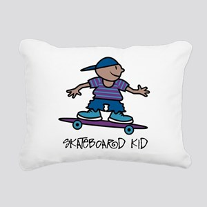Skateboard Kid Rectangular Canvas Pillow
