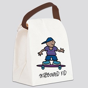 Skateboard Kid Canvas Lunch Bag