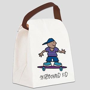 Skateboard Kid Canvas Lunch Bag