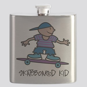 Skateboard Kid Flask