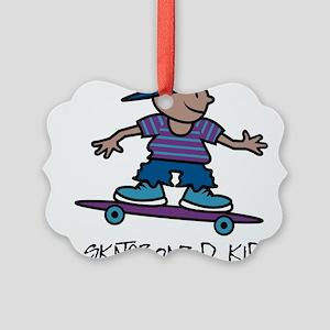 Skateboard Kid Picture Ornament