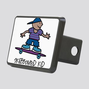 Skateboard Kid Rectangular Hitch Cover