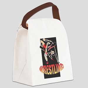 Wrestling Canvas Lunch Bag