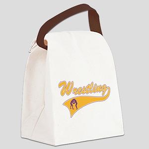 Wrestling 3 Canvas Lunch Bag