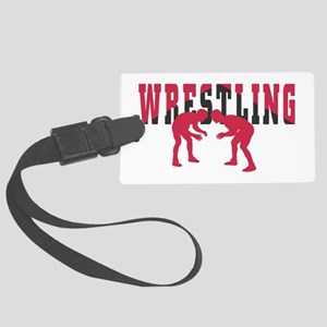 Wrestling 2 Large Luggage Tag