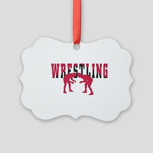Wrestling 2 Picture Ornament