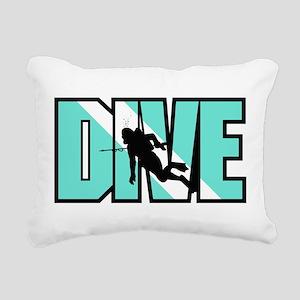Dive Rectangular Canvas Pillow