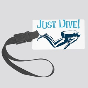 Just Dive Large Luggage Tag