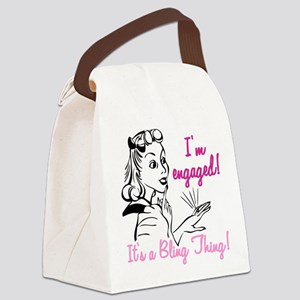 its a bling thing Canvas Lunch Bag
