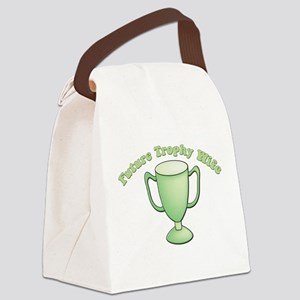 future trophy wife green Canvas Lunch Bag