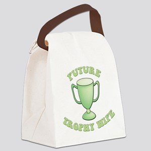 future trophy wife green2 Canvas Lunch Bag