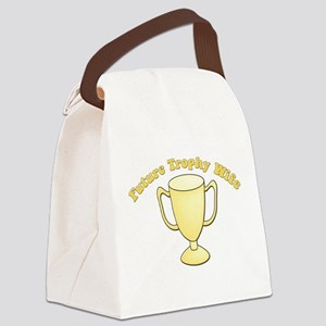 future trophy wife yellow Canvas Lunch Bag