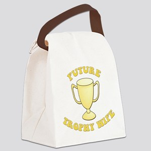 future trophy wife yellow2 Canvas Lunch Bag
